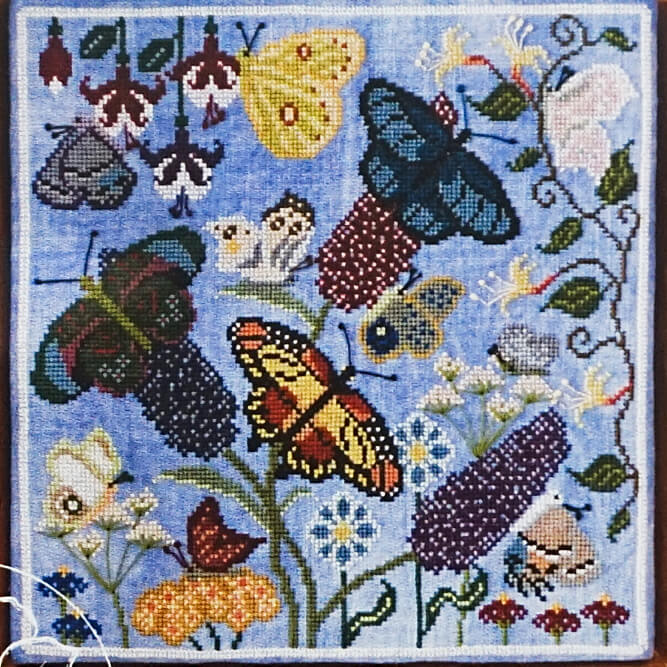 Butterfly Garden counted cross stitch pattern