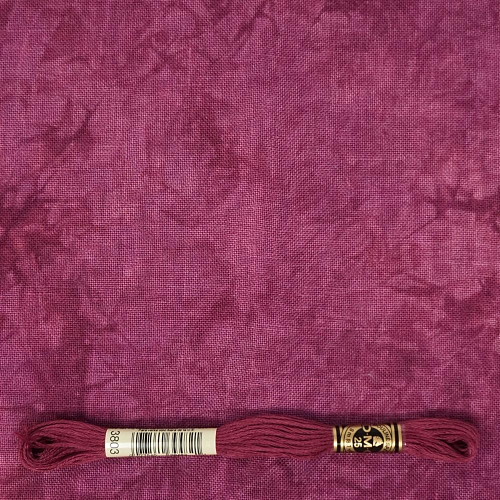 Cabernet 36 count Edinburgh linen from Picture This Plus for cross stitch