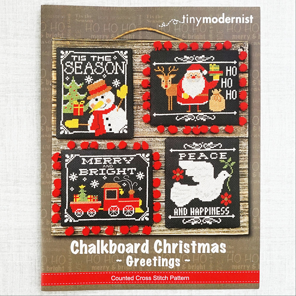 Chalkboard Christmas Greetings by Tiny Modernist