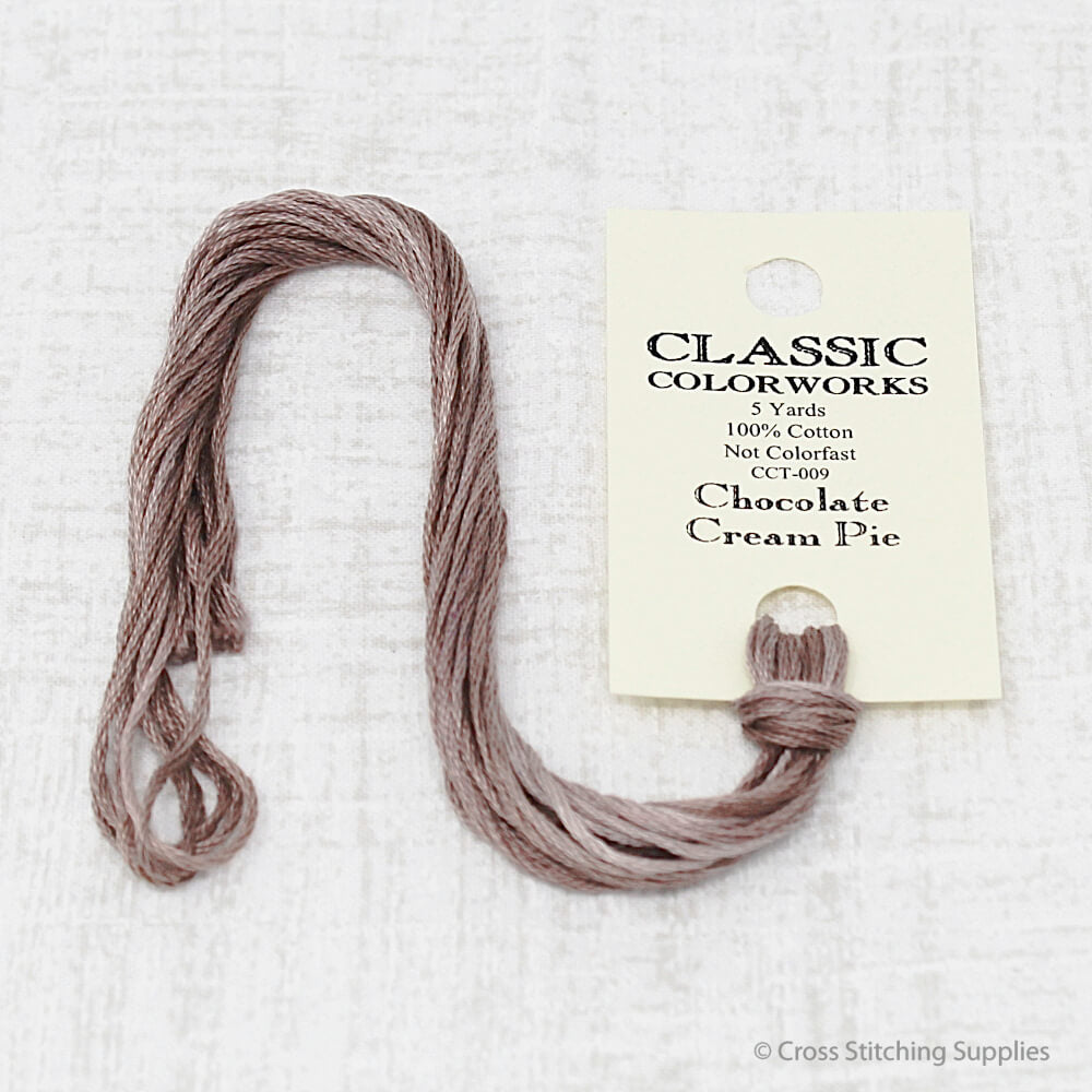 Chocolate Cream Pie Classic Colorworks embroidery floss