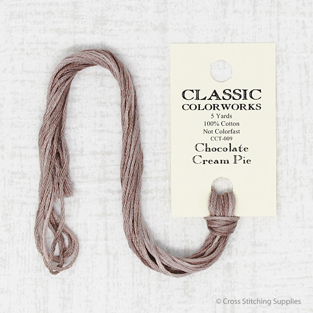 Chocolate Cream Pie Classic Colorworks embroidery thread