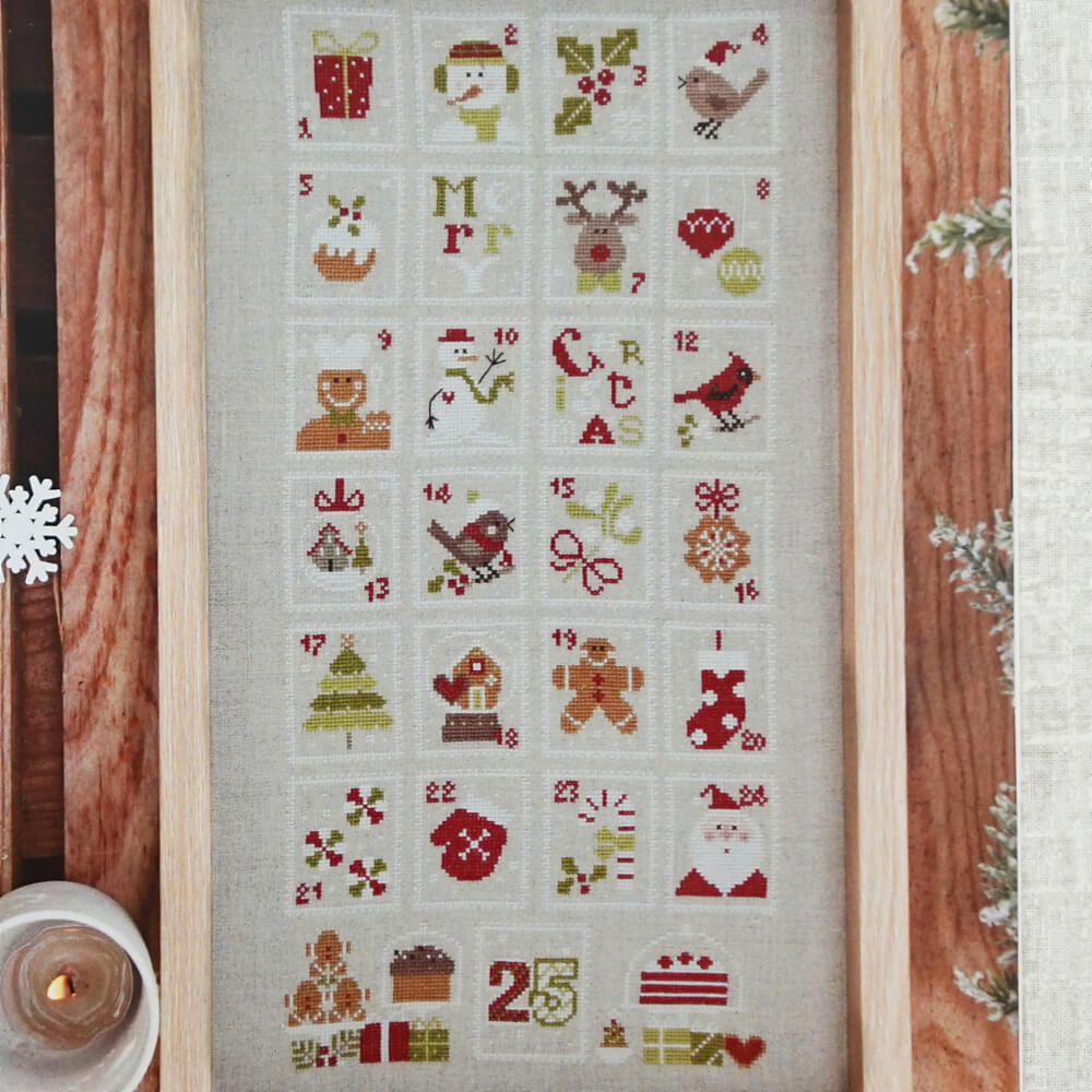 Christmas Stamps counted cross stitch pattern