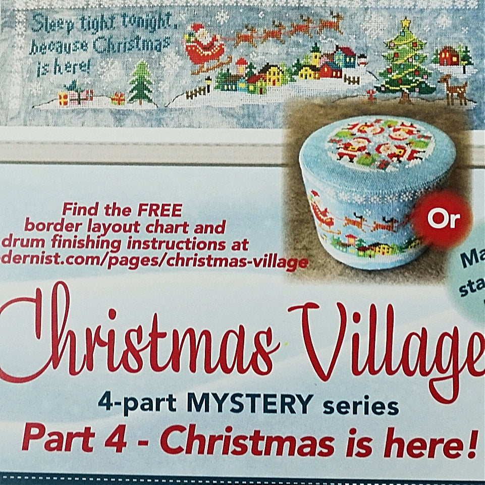 Christmas village part 4 counted cross stitch pattern