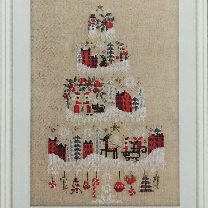 Christmas Cake counted cross stitch pattern