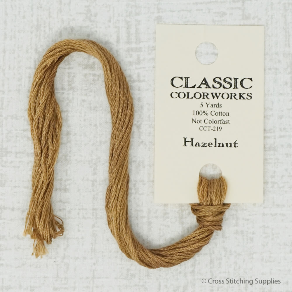Classic colorworks Hazelnut embroidery thread