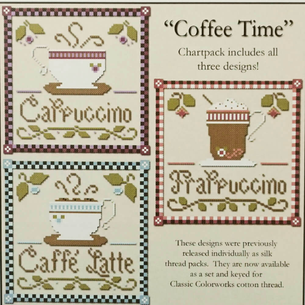 Coffee Time counted cross stitch pattern