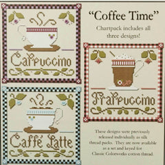 Coffee Time Cross Stitch Patterns | Little House Needleworks