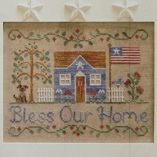 Bless Our Home counted cross stitch pattern