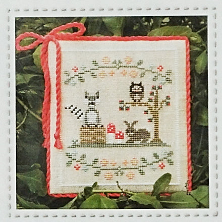 Forest Raccoon and Friends counted cross stitch chart