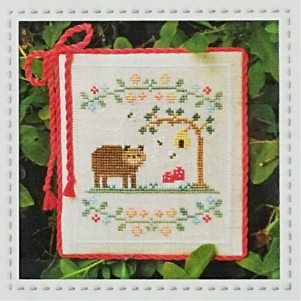 Forest Bear counted cross stitch chart