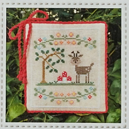 Forest Deer counted cross stitch chart