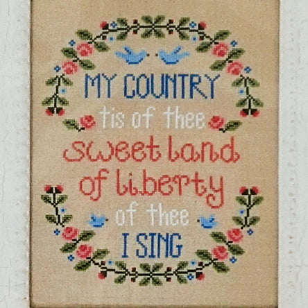 My country counted cross stitch chart