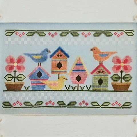 Spring Birds counted cross stitch chart
