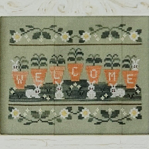 Welcome Spring counted cross stitch chart