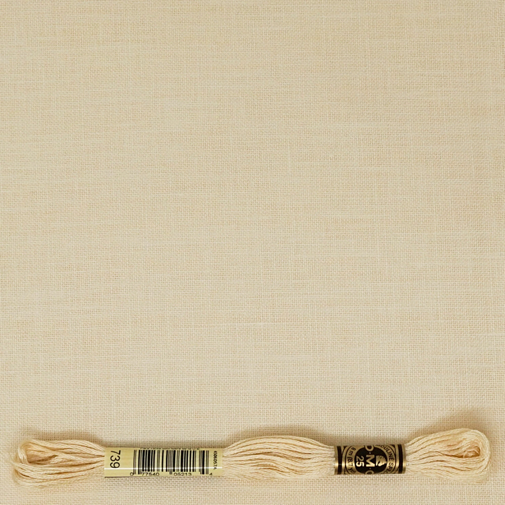 Cream 40 count newcastle linen from Zweigart for cross stitch