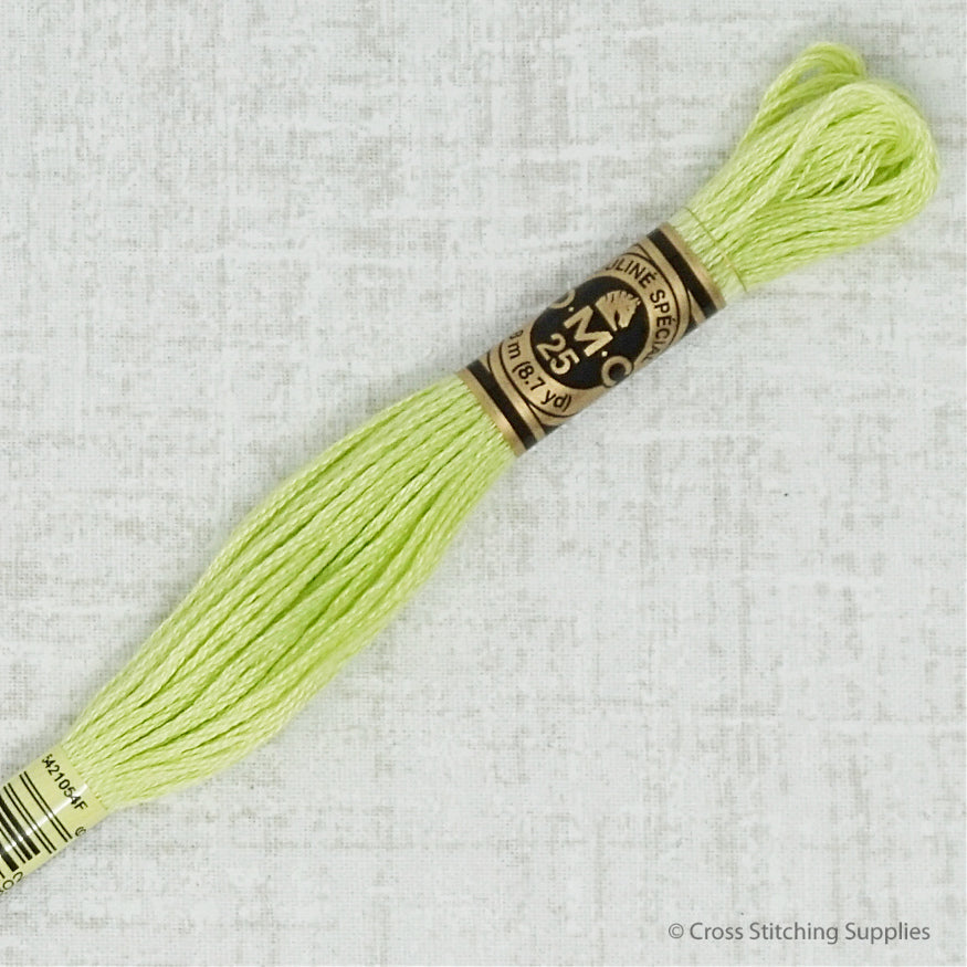 DMC 15 apple green embroidery floss