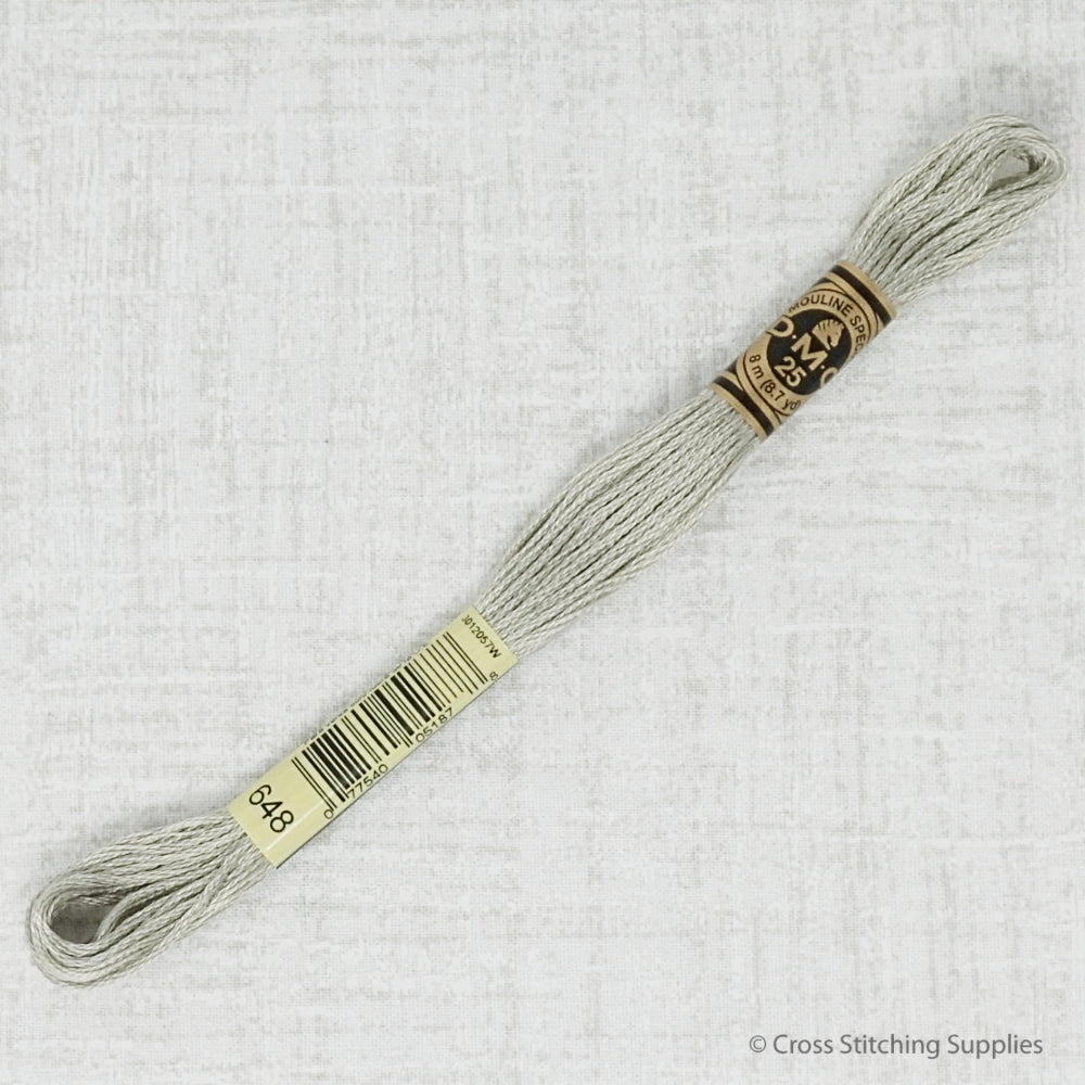 DMC 648 light beaver gray embroidery thread