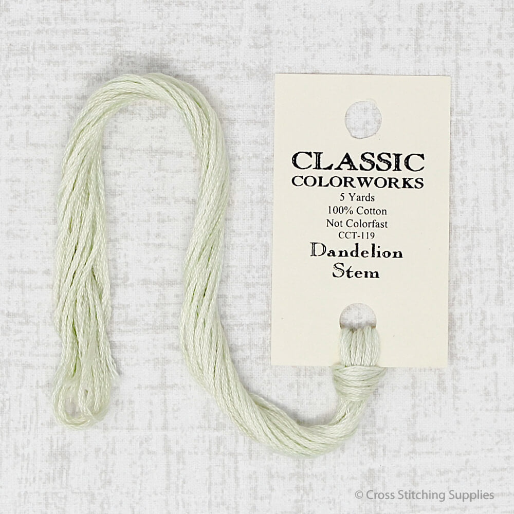 Dandelion Stem Classic Colorworks embroidery thread