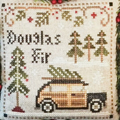 Douglas Fir counted cross stitch pattern