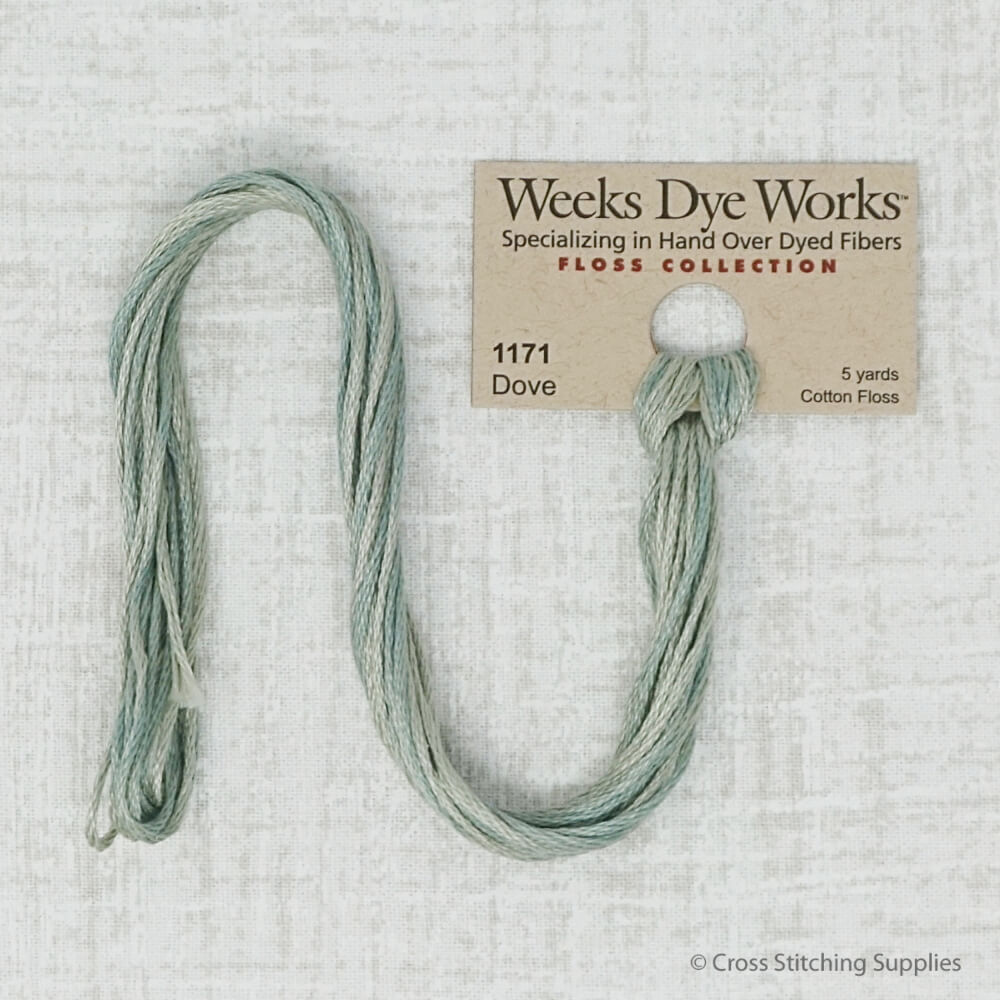 Dove Weeks Dye works overdyed embroidery floss