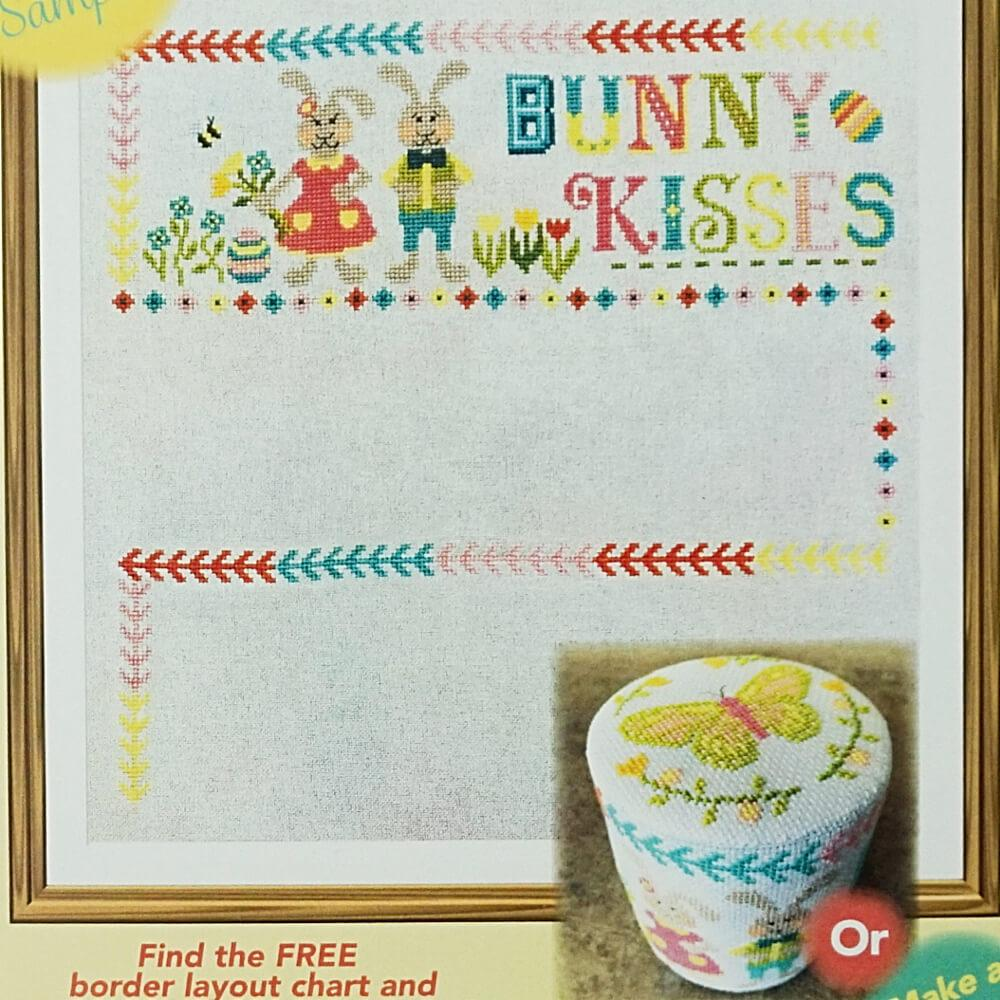 Easter Wishes Bunny Kisses counted cross stitch pattern