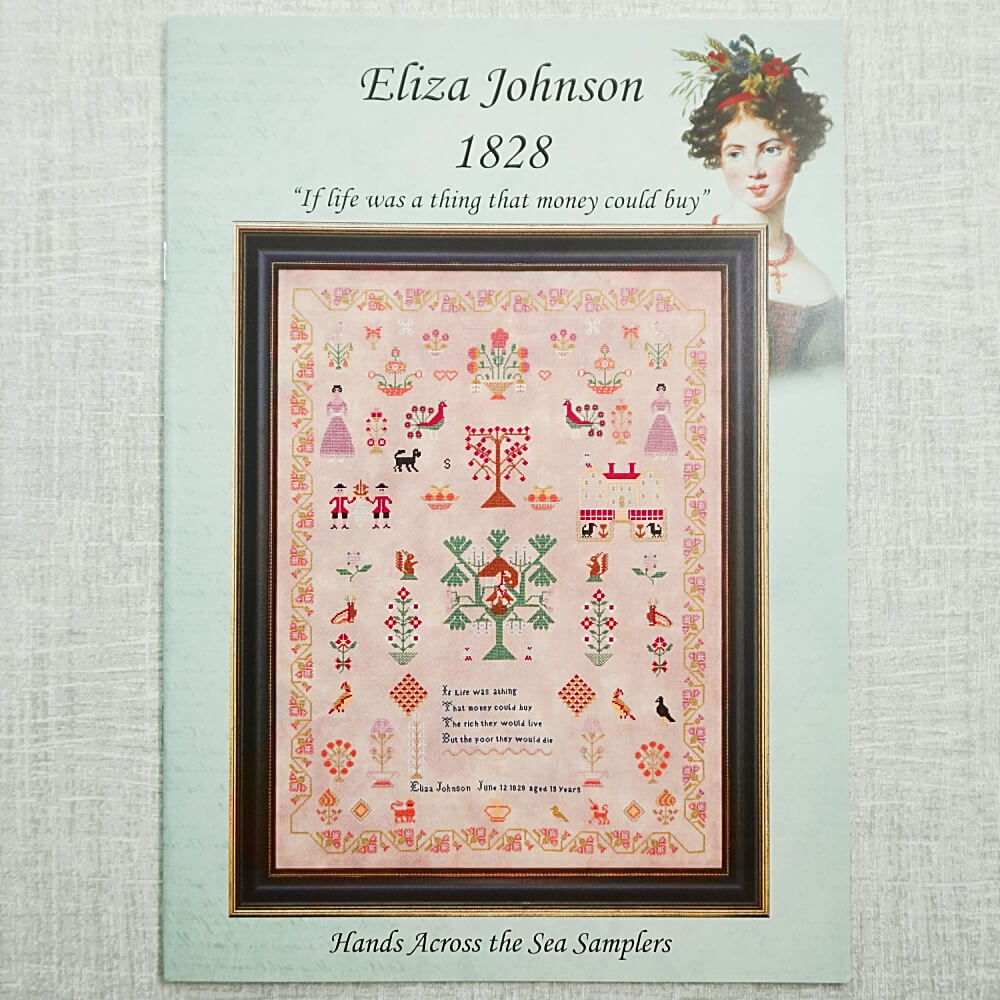 Eliza Johnson 1828 sampler pattern by Hands Across the Sea Samplers