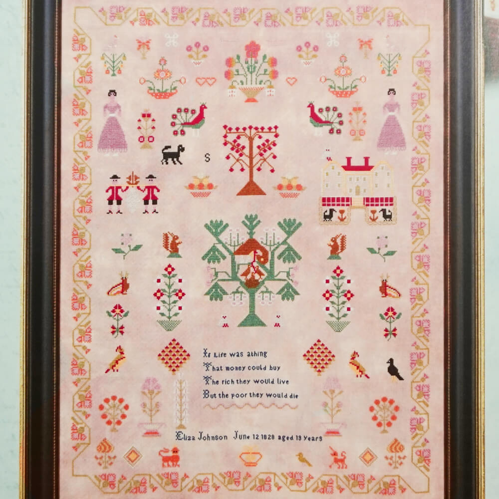 Eliza Johnson 1828 counted cross stitch pattern