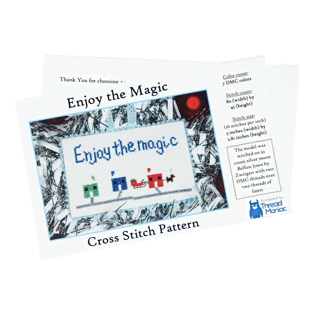 Enjoy the Magic Cross Stitch Pattern | Thread Maniac Designs