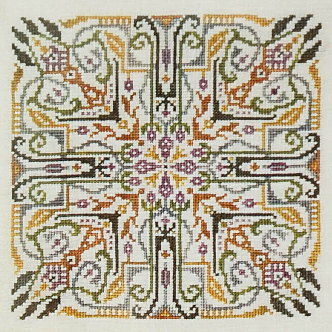 Entwined counted cross stitch pattern