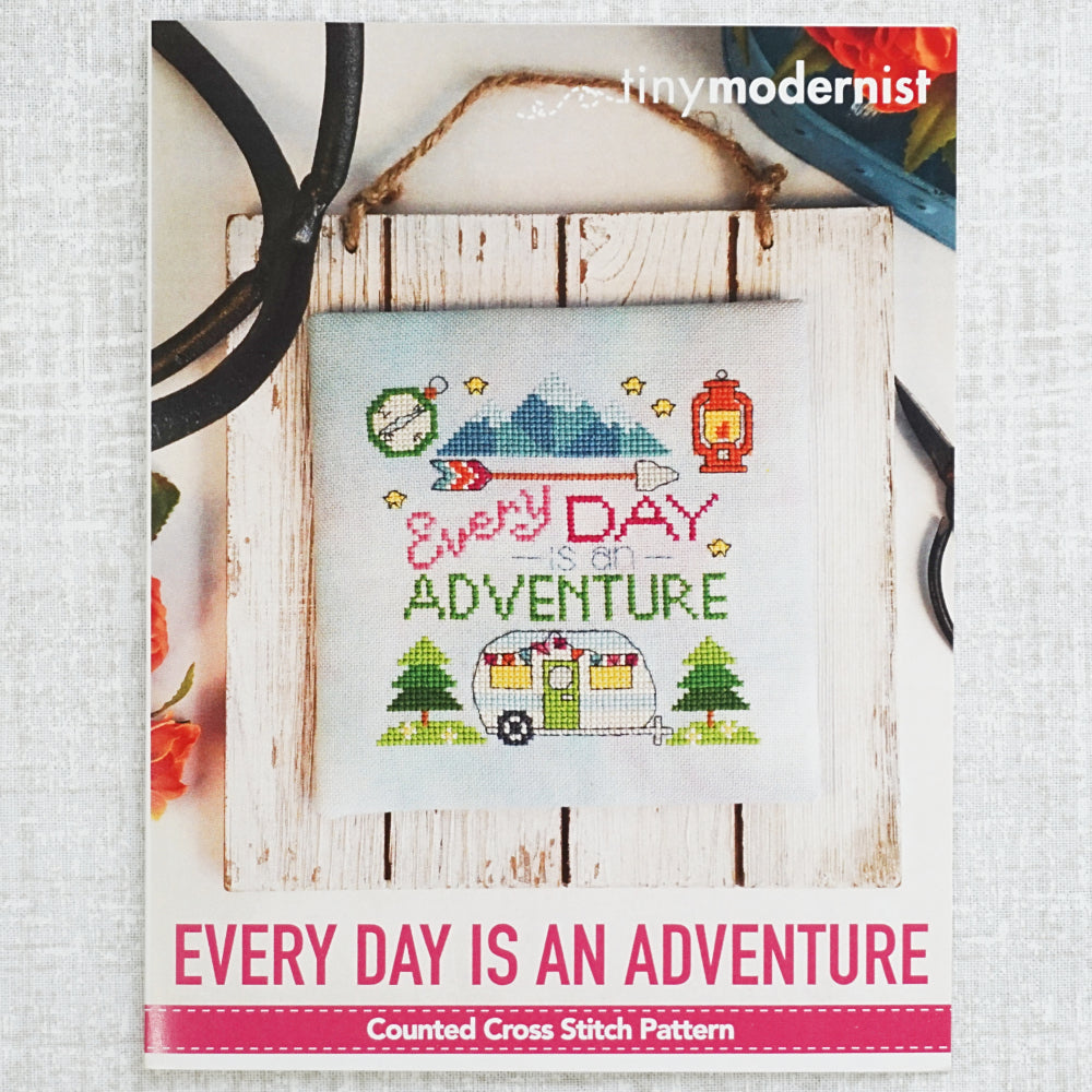 Every Day is An Adventure pattern by Tiny Modernist for sale