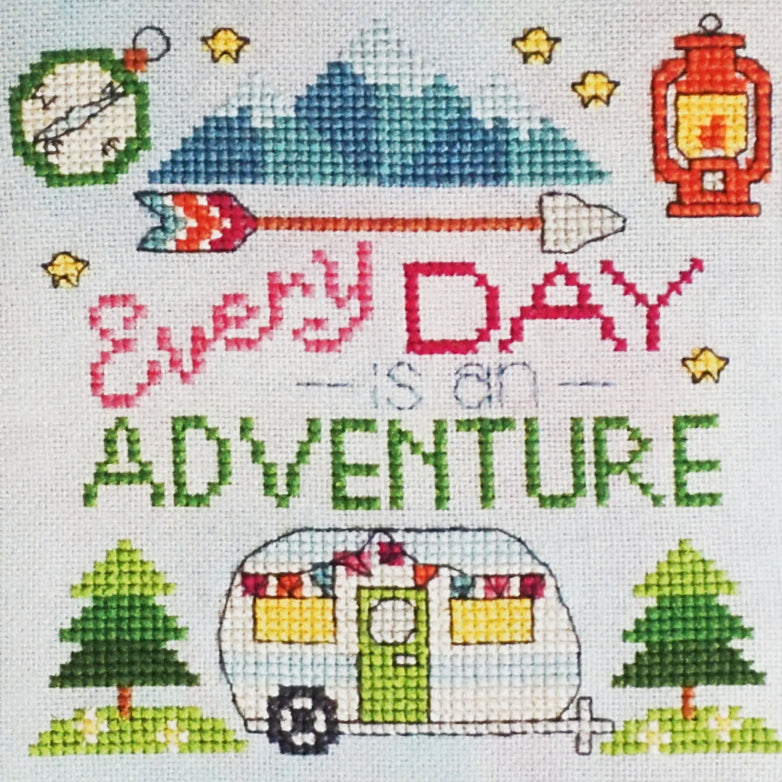 Every Day is An Adventure counted cross stitch pattern
