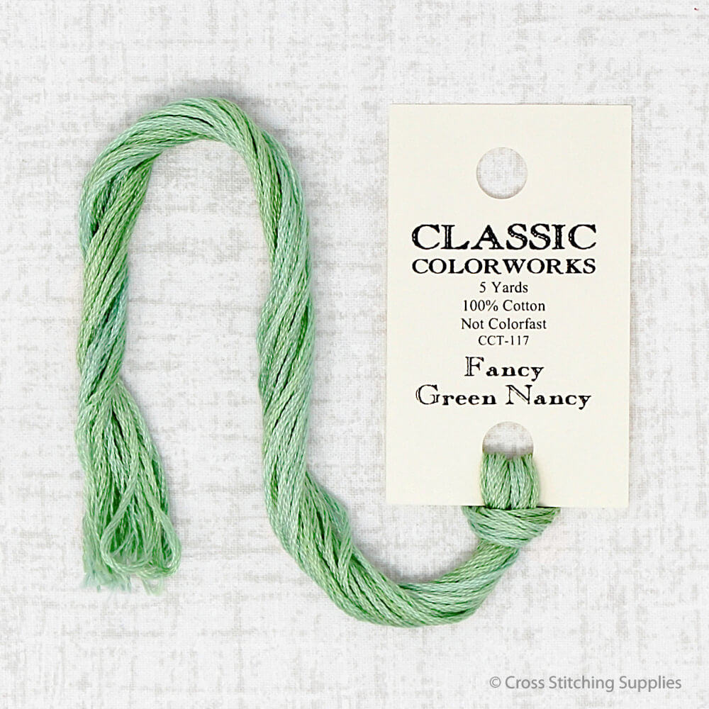 Fancy Green Nancy Classic Colorworks embroidery thread