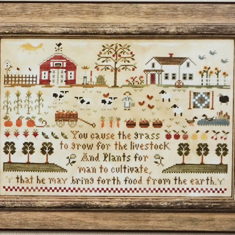 Farm Life counted cross stitch pattern