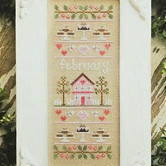 February Sampler Cross Stitch Pattern | Country Cottage Needleworks