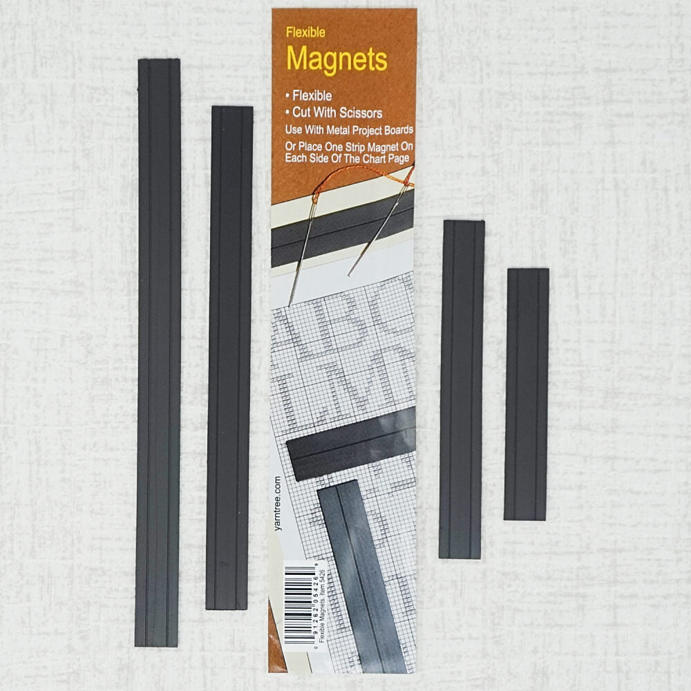 Set of four flexible magnets