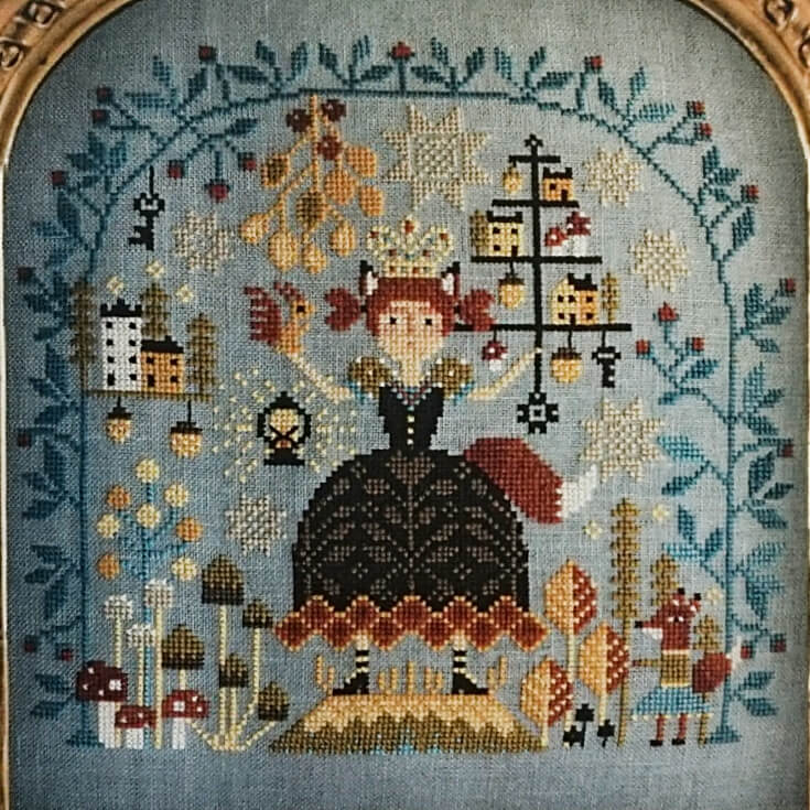 Forest Queen counted cross stitch pattern
