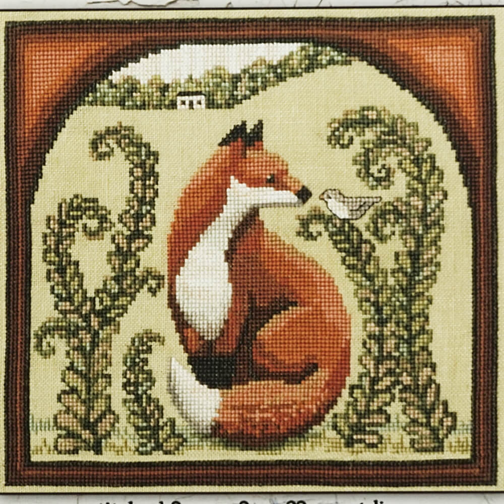 Fox & Friend counted cross stitch pattern