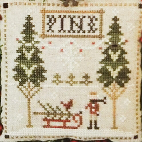 Fresh Pines counted cross stitch pattern