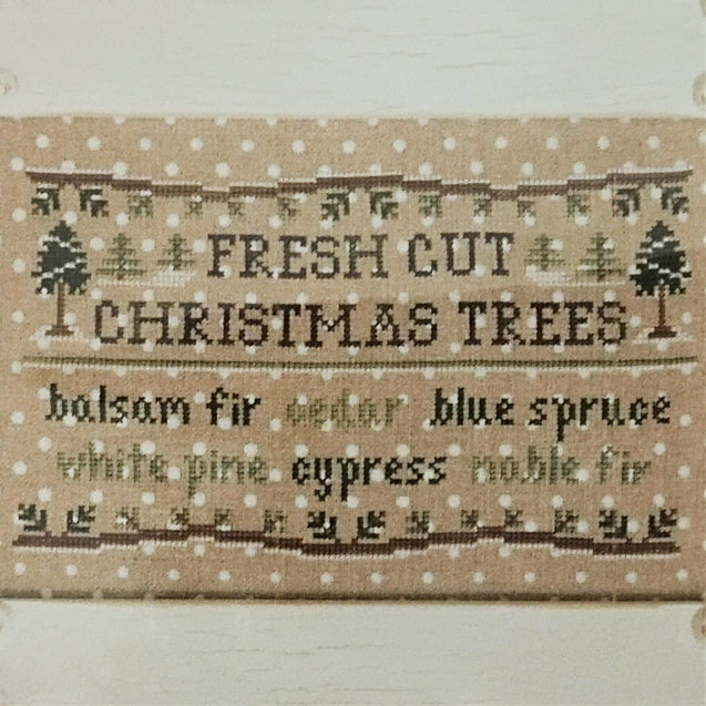 Fresh Cut Christmas Trees counted cross stitch pattern