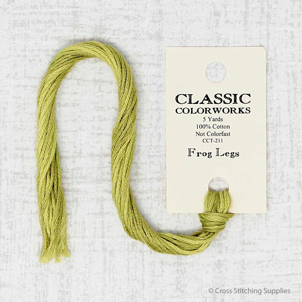 Frog Legs Classic Colorworks embroidery thread