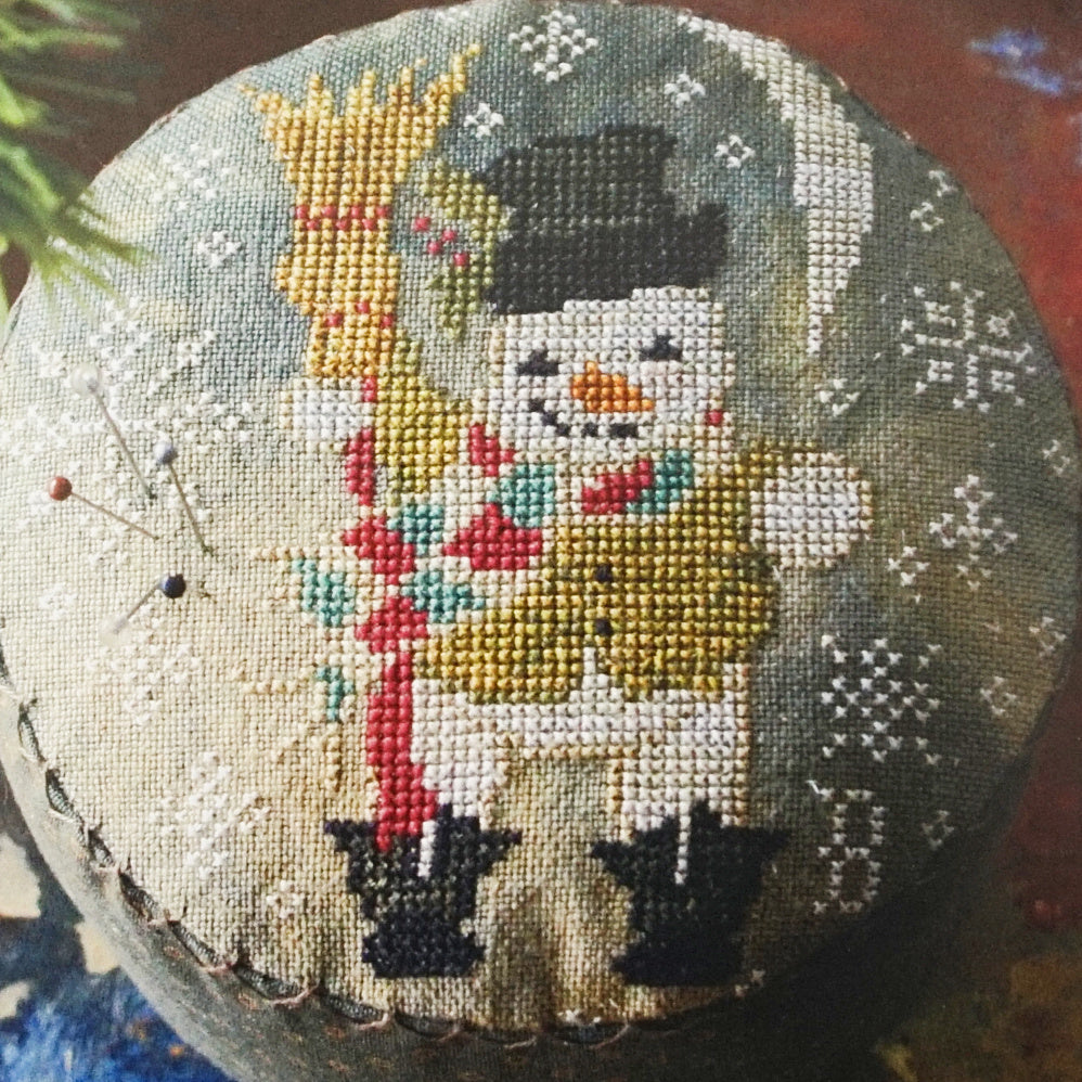 Frosty's Night Out counted cross stitch pattern