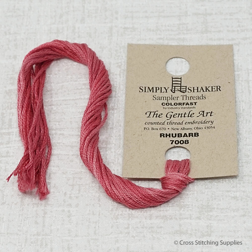 Rhubarb The Gentle Art hand dyed overdyed floss