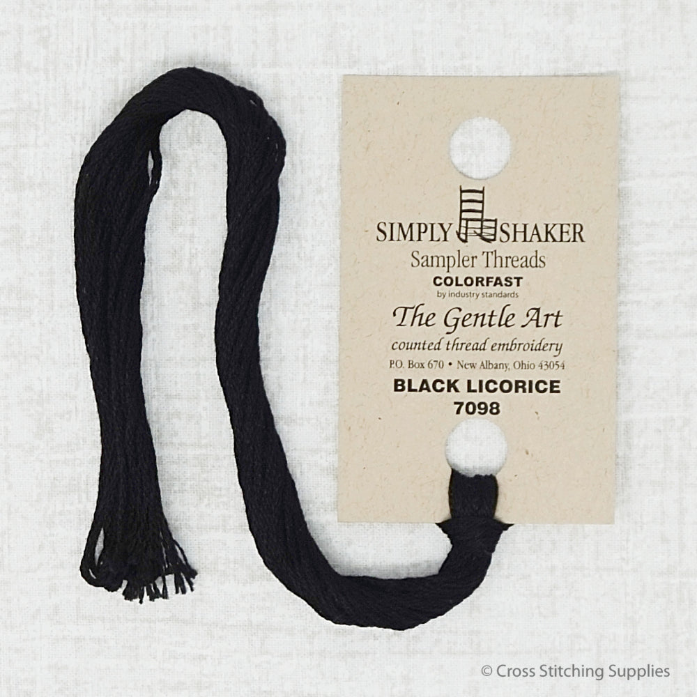 Black Licorice the Gentle Art embroidery thread