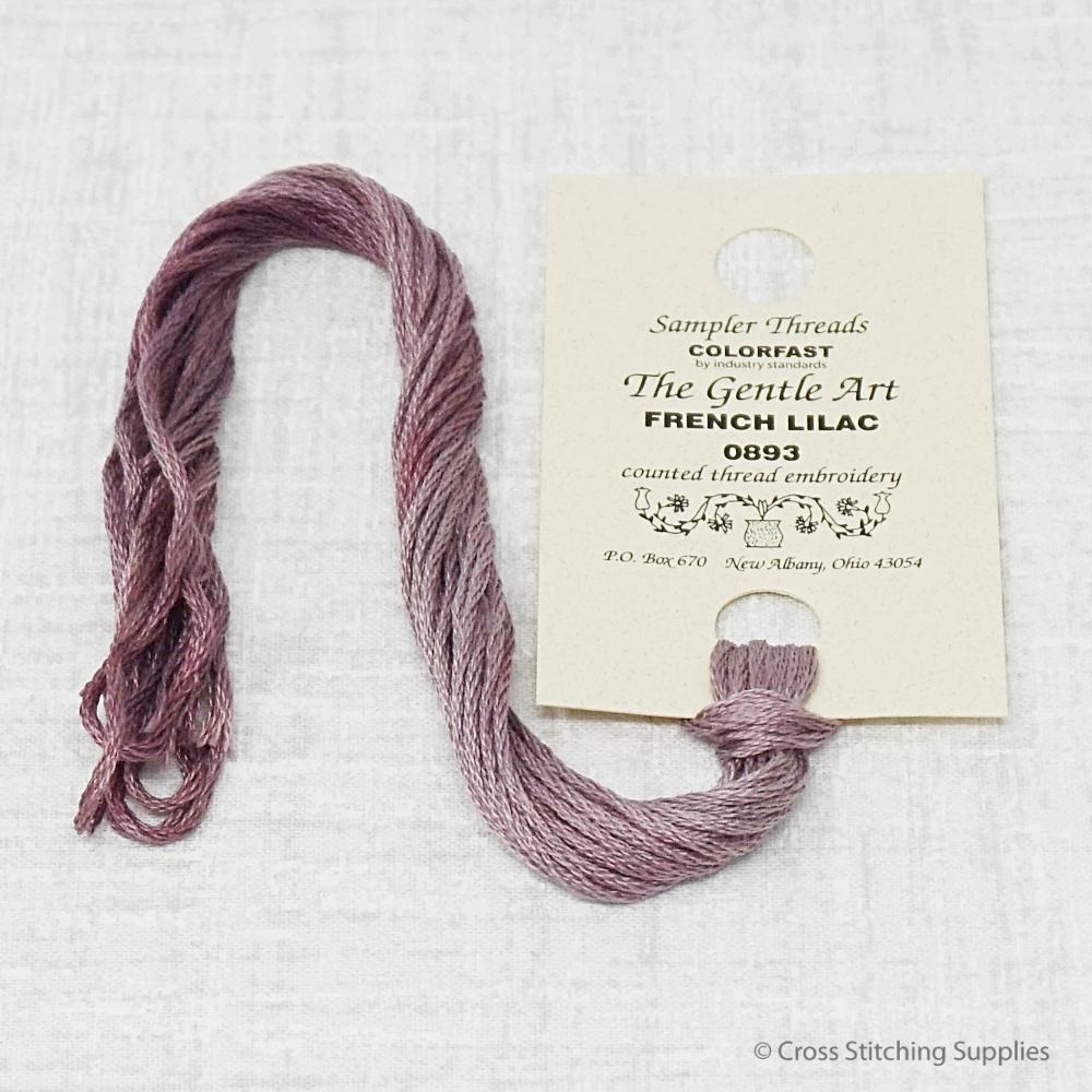 French Lilac The Gentle Art hand-dyed overdyed floss