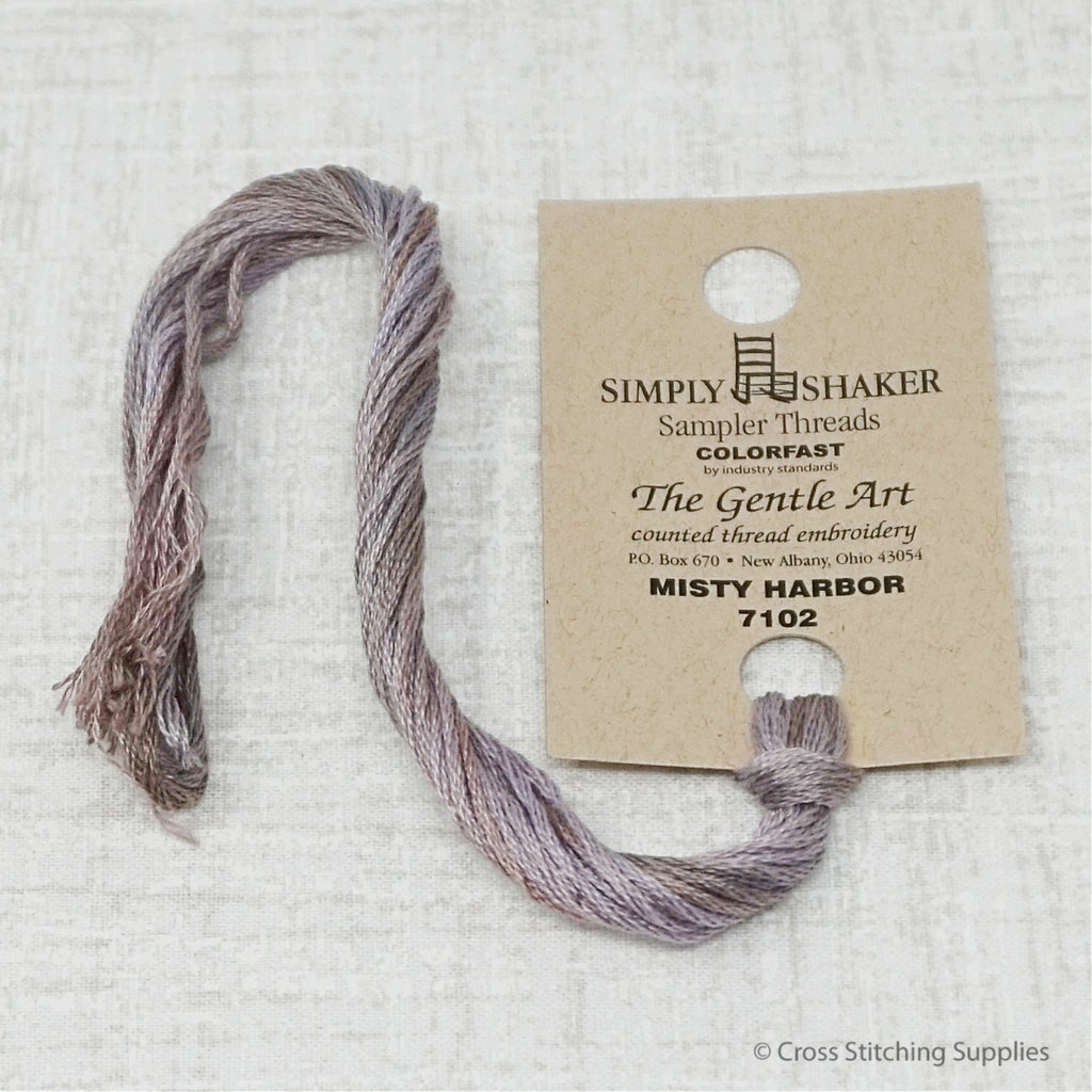 Misty Harbor The Gentle Art hand-dyed overdyed floss