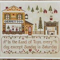 Geppetto's Cross Stitch Pattern | Little House Needleworks