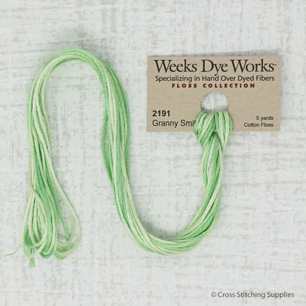 Granny Smith Weeks Dye Works embroidery thread