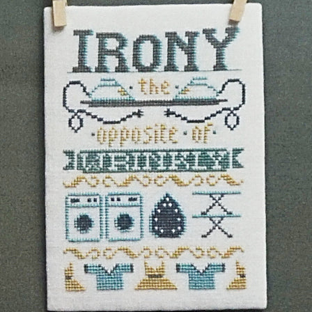 Irony counted cross stitch chart