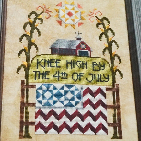 Knee High counted cross stitch chart