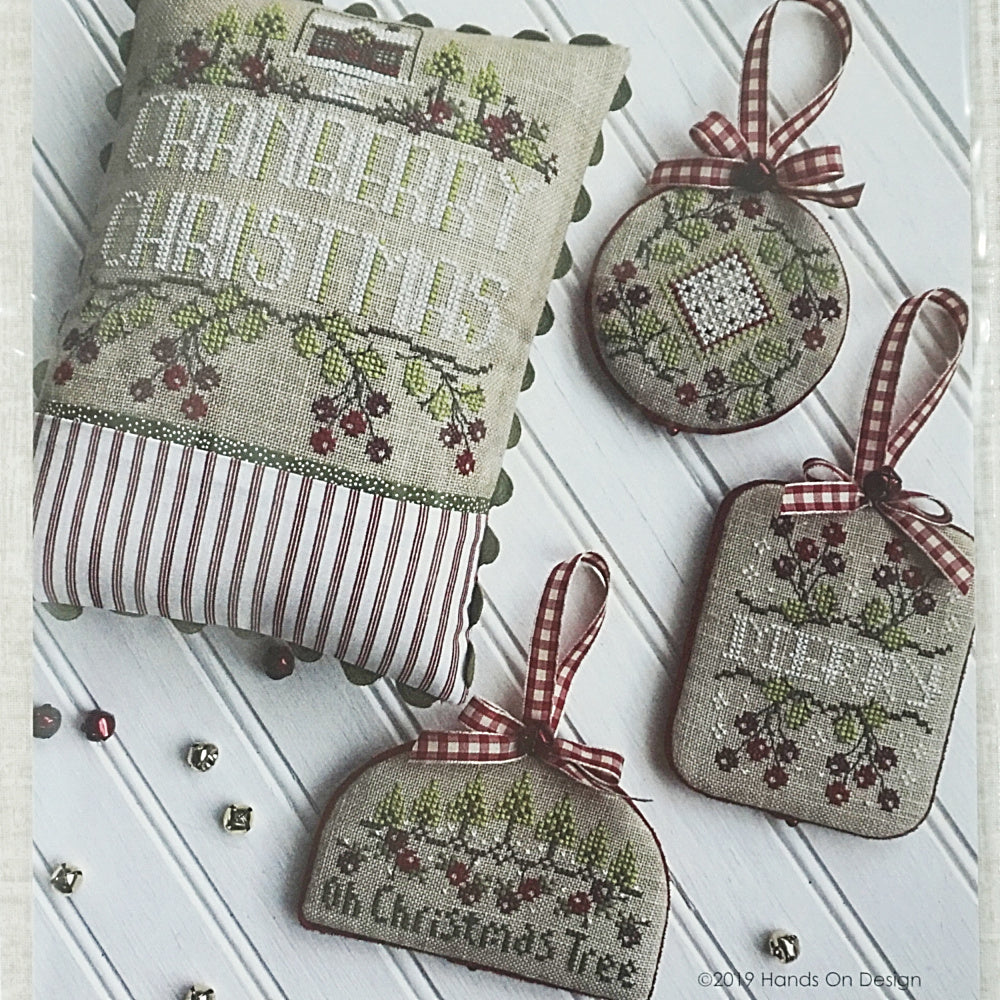 Cranberry Christmas counted cross stitch pattern